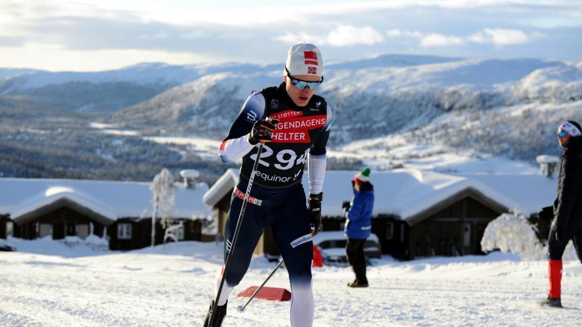Vebjørn Turtveit viste seg fram frå si beste side då han sundag kjempa om sigeren på Gålå.