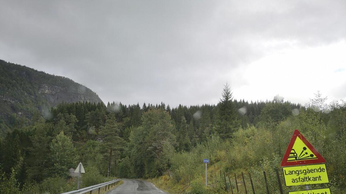 Vegen mellom Bulken og Hamlagrø vert stengd på grunn av asfaltering.
