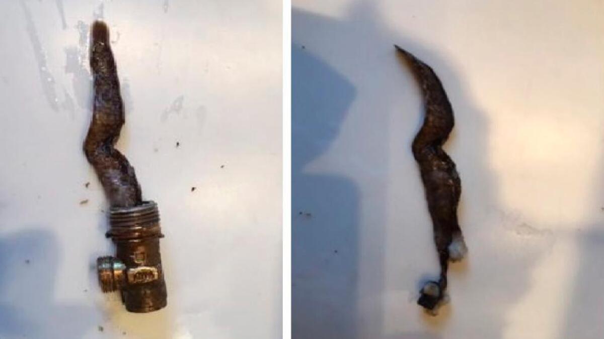 Da kommunen først fikk se disse bildene kalte de det et mysterium. De undersøkte saken og oppdaget at det skyldtes en treveisventil plassert i sjøen. Det er strengt forbudt.BEGGE