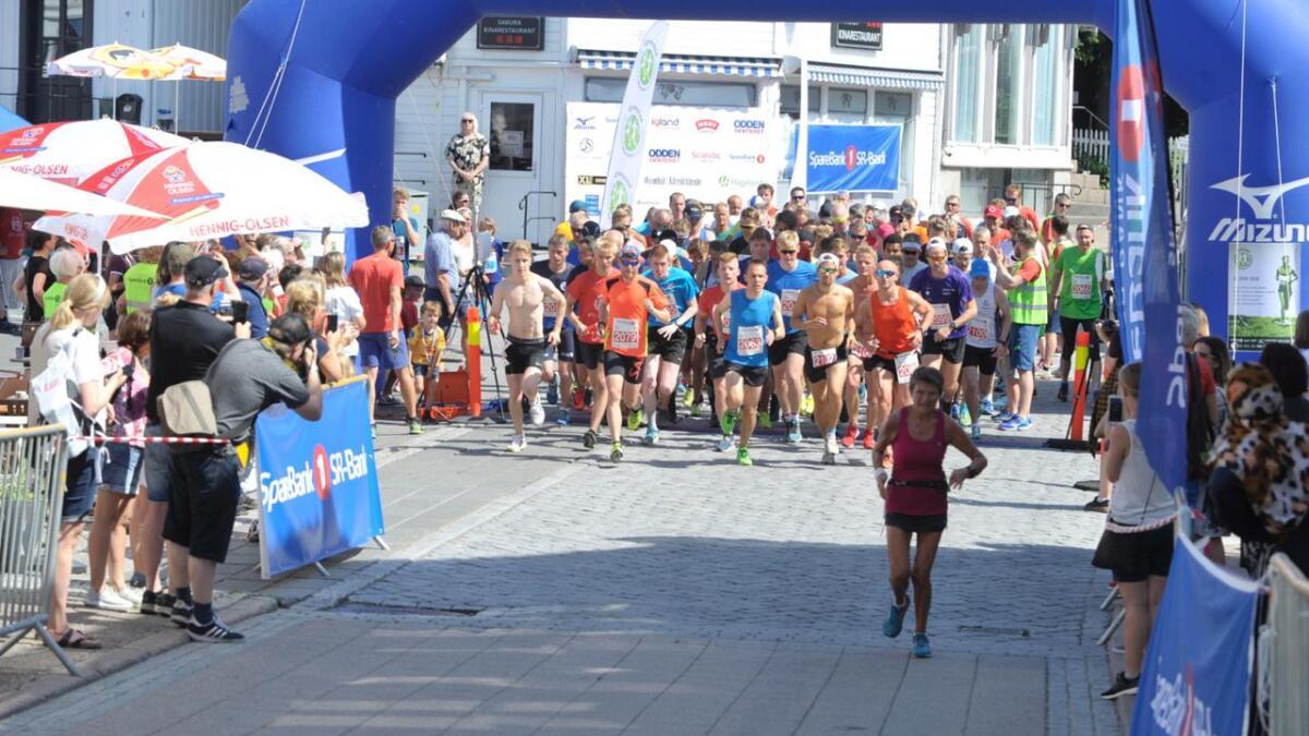 Grimstad Maraton arrangeres i år med ny løype.