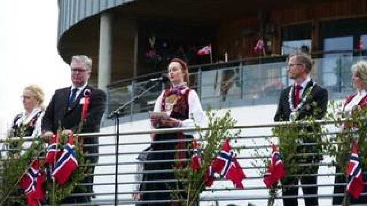 Maja Trommestad var tydelig i sitt budskap 17. mai.