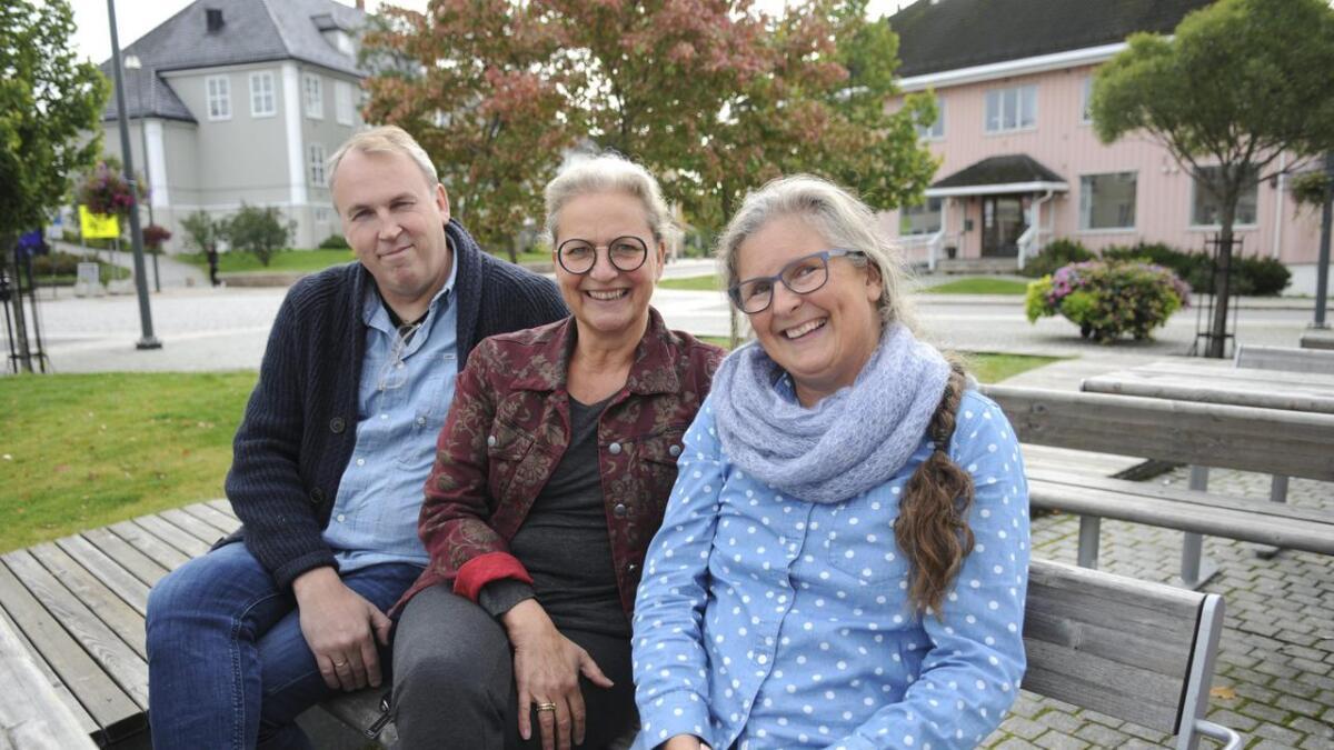 Ola AndrÈ Olsen, Tonje Dahlstrøm og Elisabeth Stabell i prosjektgruppa for matfestivalen Brød & Cirkus gleder seg til å ønske velkommen til den 7. festivalen i rekka.