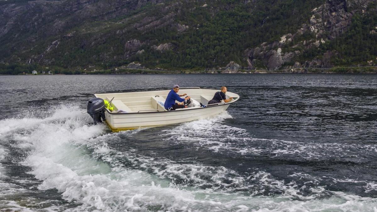 67 prosent av de spurte båteierne i Aust-Agder sier at de opplever råkjøring til sjøs. Bildet er et illustrasjonsfoto.
