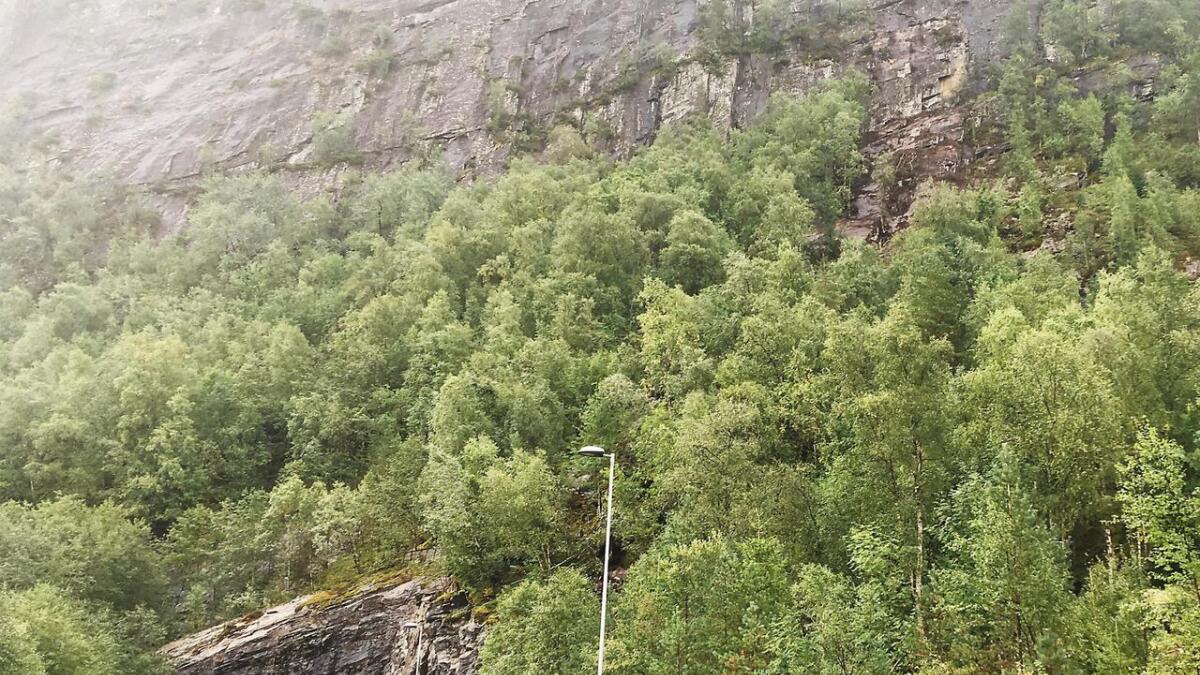 Det var på grensa mellom Vaksdal og Voss raset gjekk.
