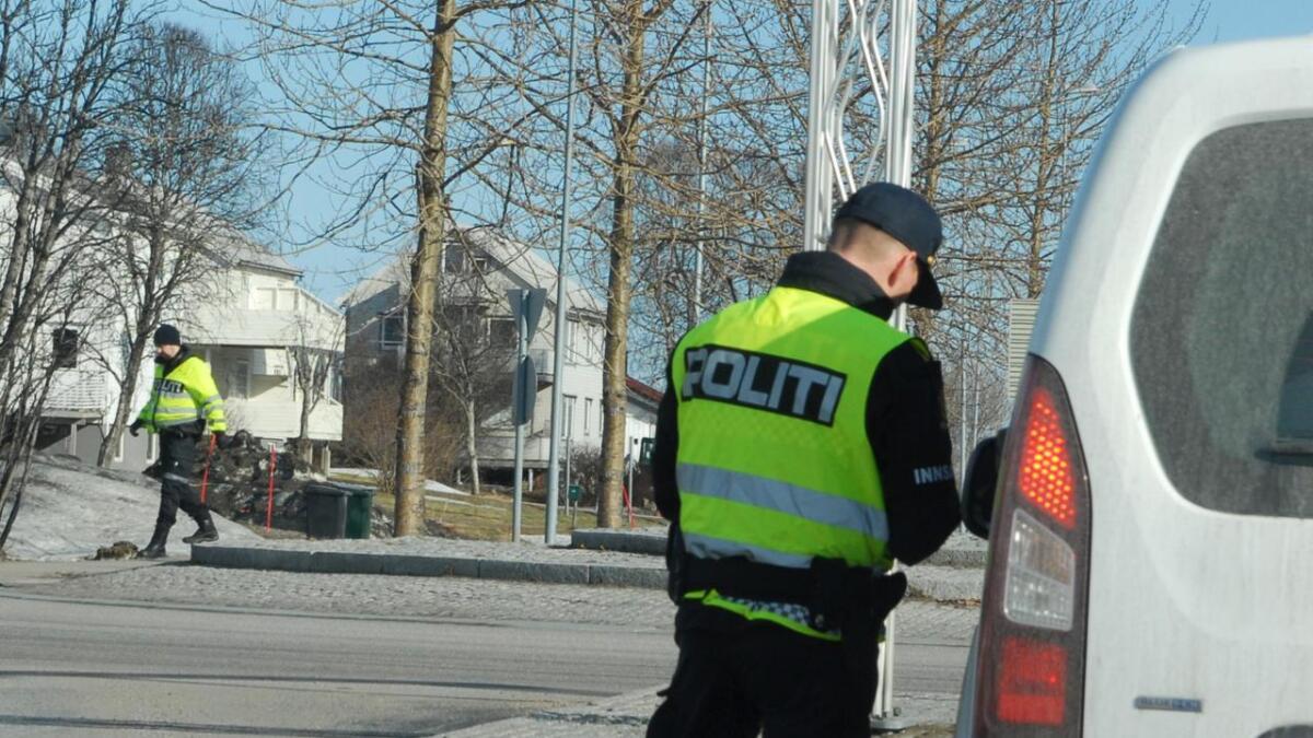 Politiet hadde fartskontoll skjærtorsdag.
