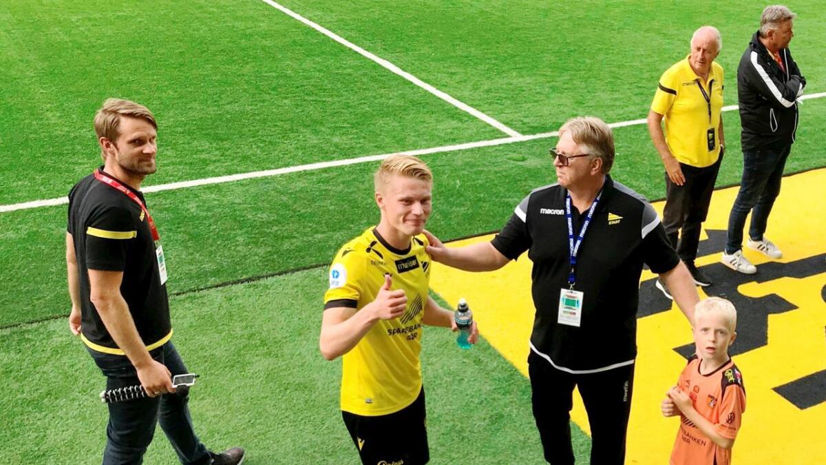 Kristoffer Tønnessen kunne smile etter den gode debuten for Start lørdag.