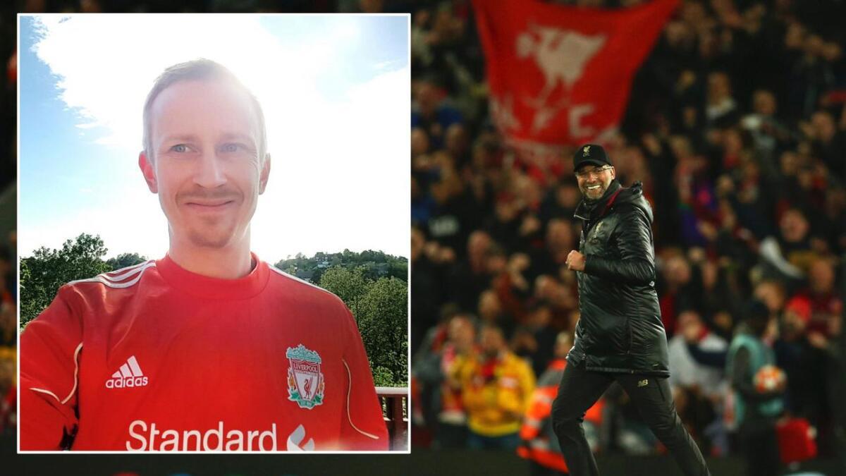 Liverpool-trener Jürgen Klopp blir nok ikke med Fredrik Frydenborg-Olsen, men det gjør Knut André Rønningen – på å gå til Dølemo hvis Liverpool vinner Champions League.