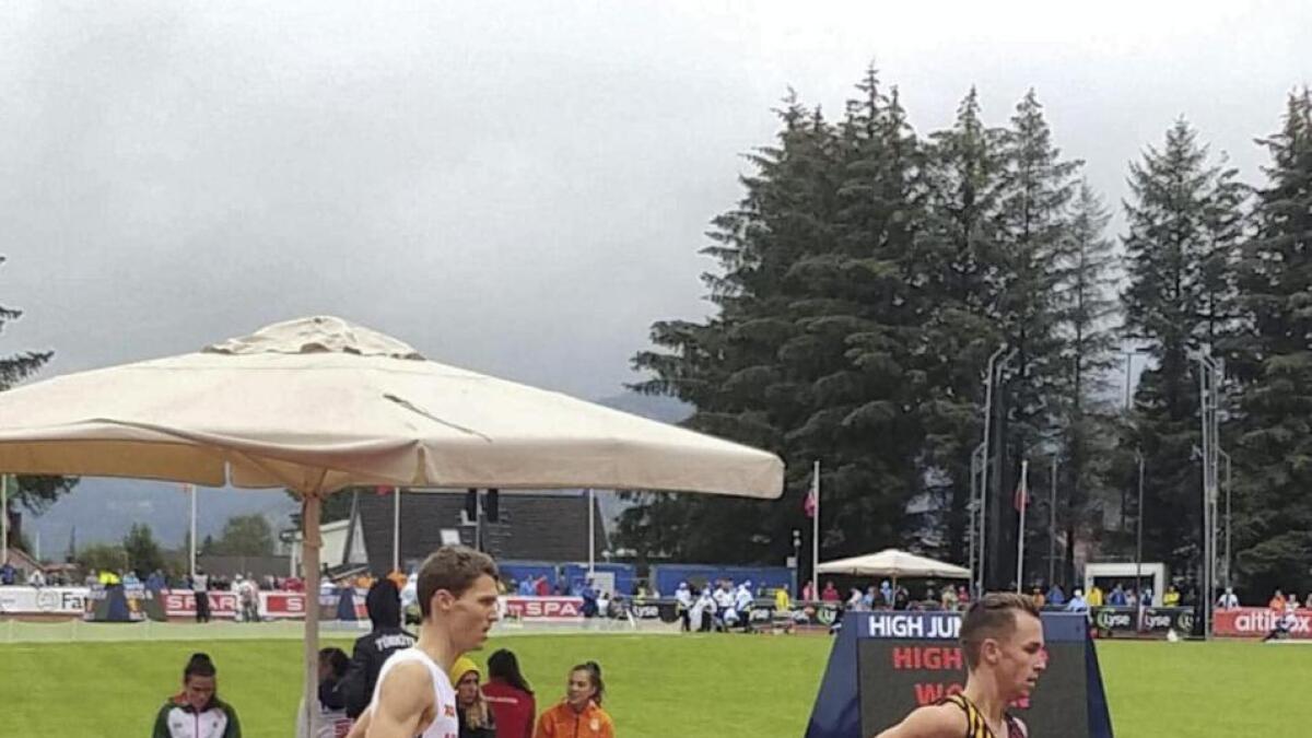 Tom Erling Kårbø frå Bømlo, som representerer Stord IL, skal springa 3000m hinder for Noreg under VM i Doha. Arkiv