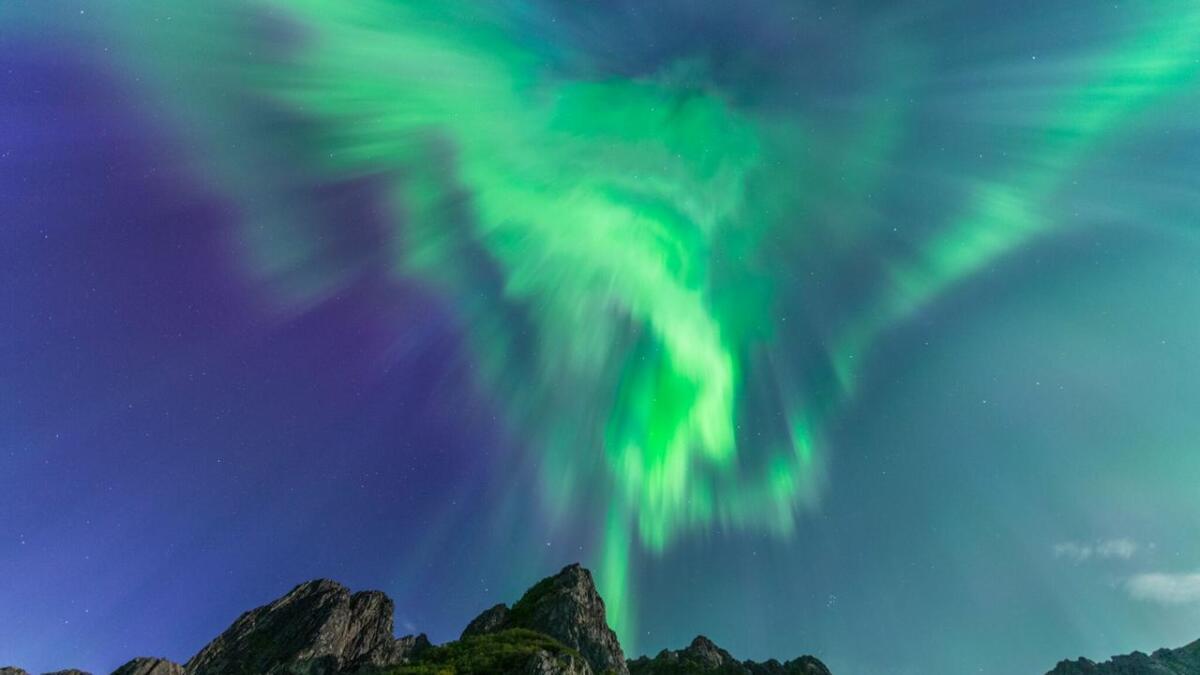 Nordlys over Vesterålen