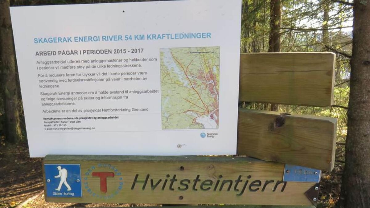 Skagerak Energi gir detaljert informasjon om arbeidet de utfører i turterrenget.