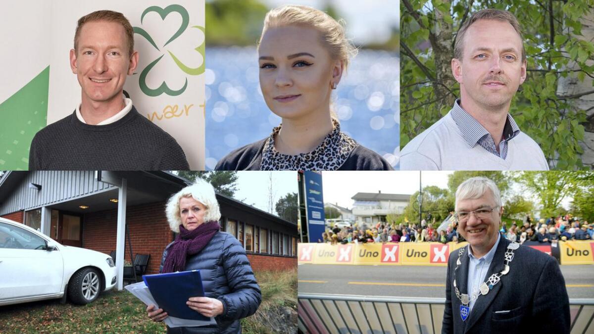 Karsten Tønnevold Fiane (Sp), Martine Øverland (Ap), Torstein Dahl (Sp), Hege Braathen (Ap) og Hallgeir Kjeldal (Ap) skal lede Bamble kommune.
