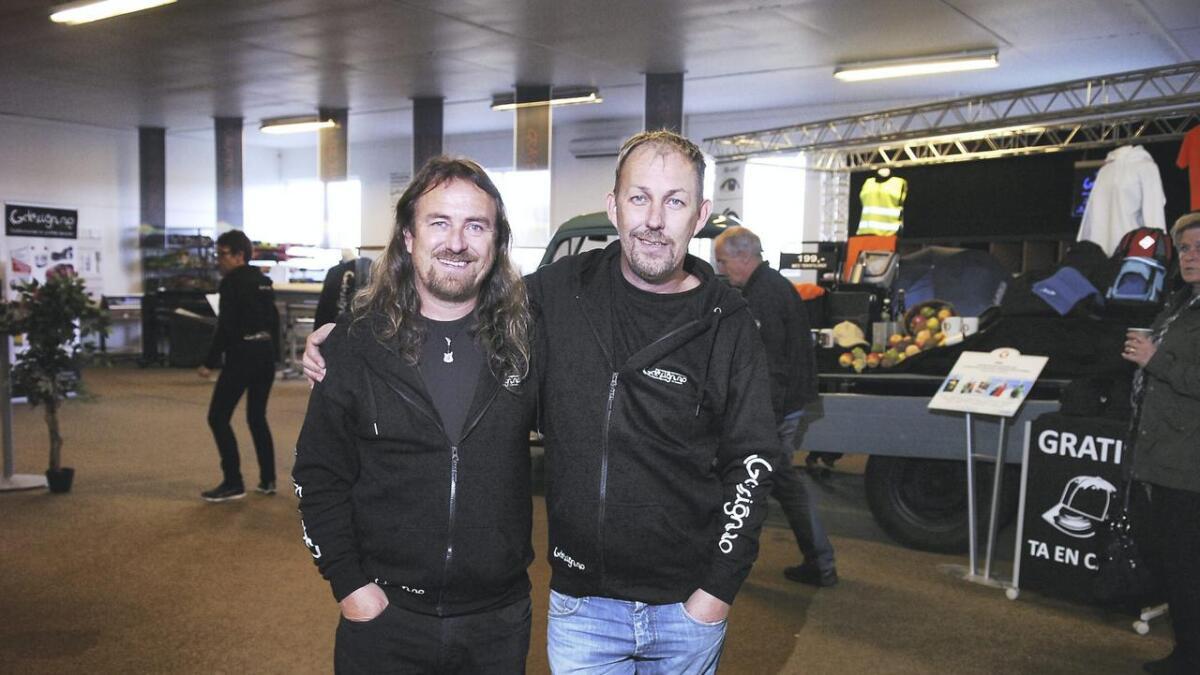 I 2014 smilte de over vekst, nå er det slutt for brødrene Johnny (t.v.) og Glenn Sætre. Det er åpnet konkurs i Gdesign.