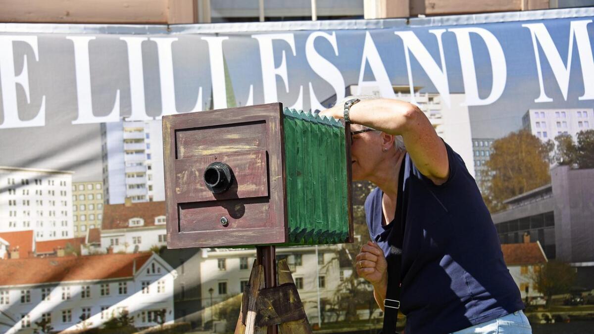 En kopi av et «Kamera obskura» laget av Pål Osjord.