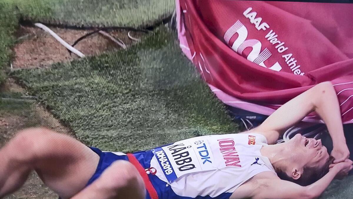 Tom Erling Kårbø (30) sprang tysdag ettermiddag i eit VM i friidrett for første gong. Det enda med ny, personleg rekord.
