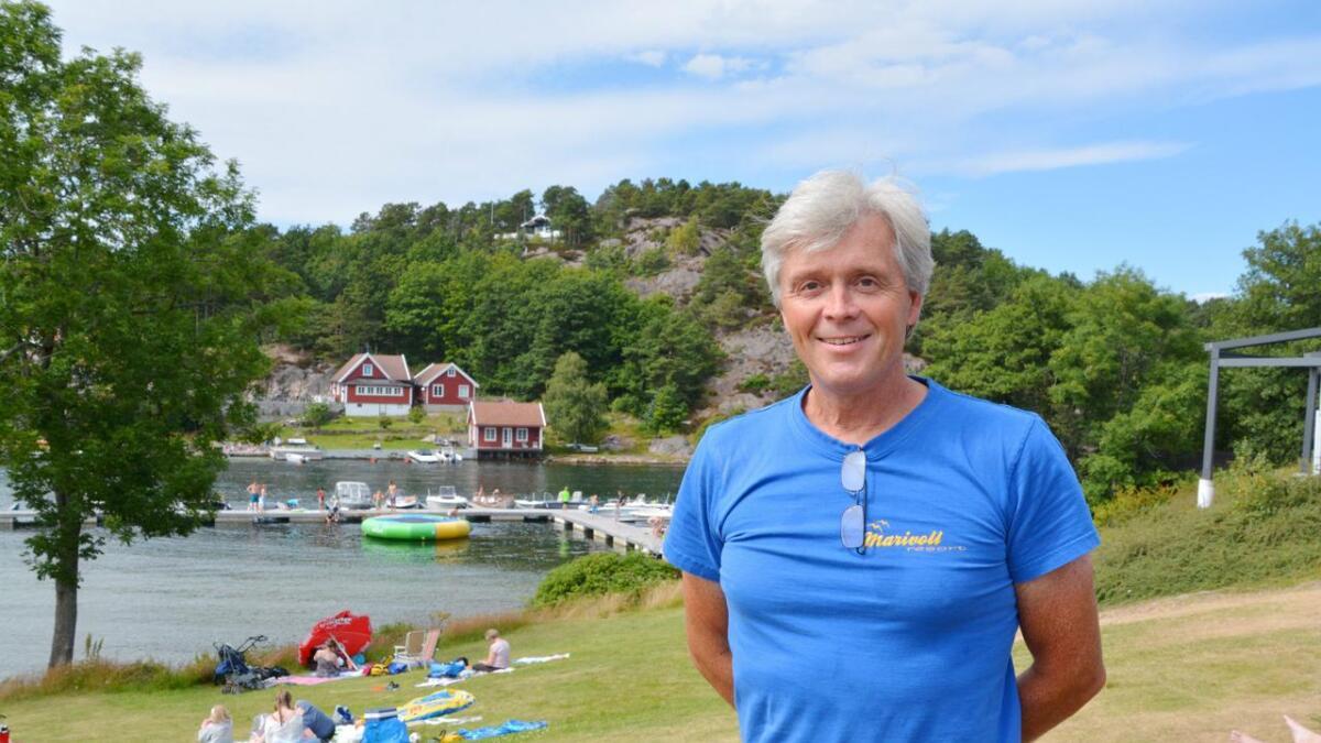 Arnfinn Gaard på Marivold Camping mener Grimstad må markedsføres bedre.